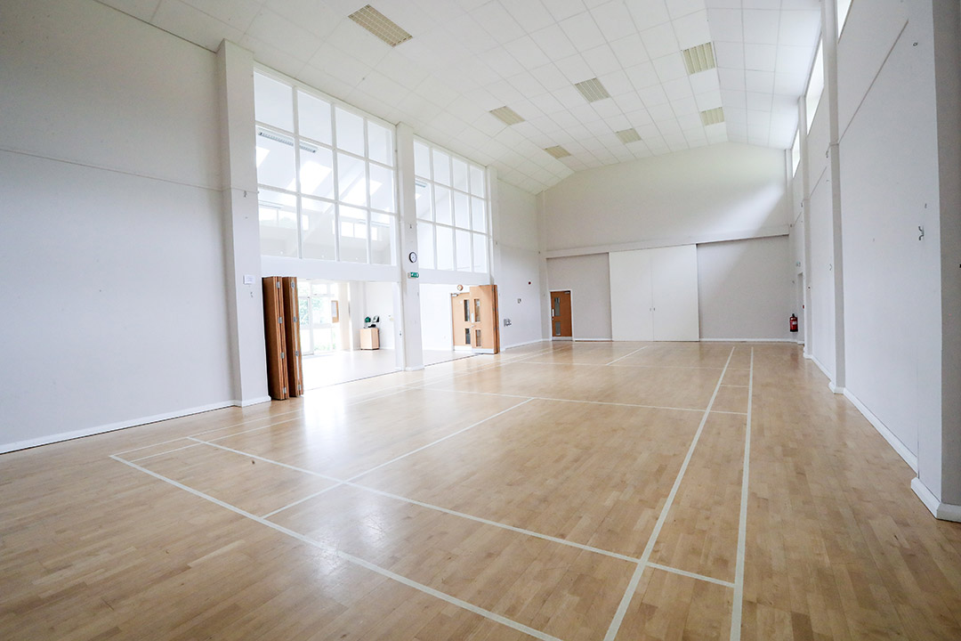 The large hall can accommodate many sports