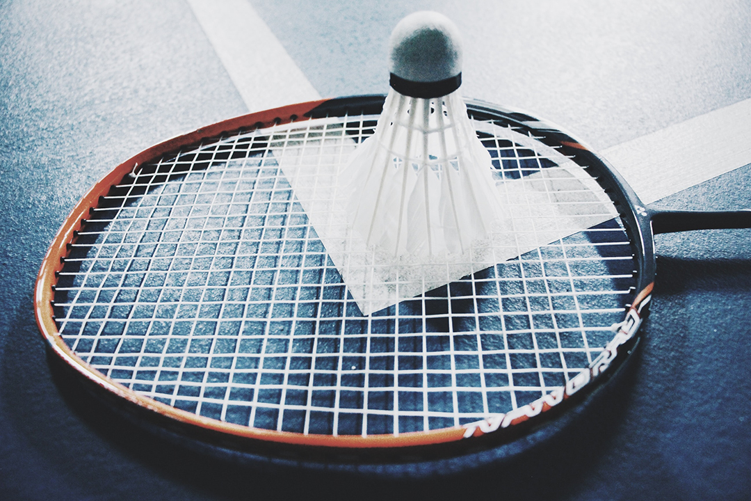 A Badminton Racket with shuttlecock