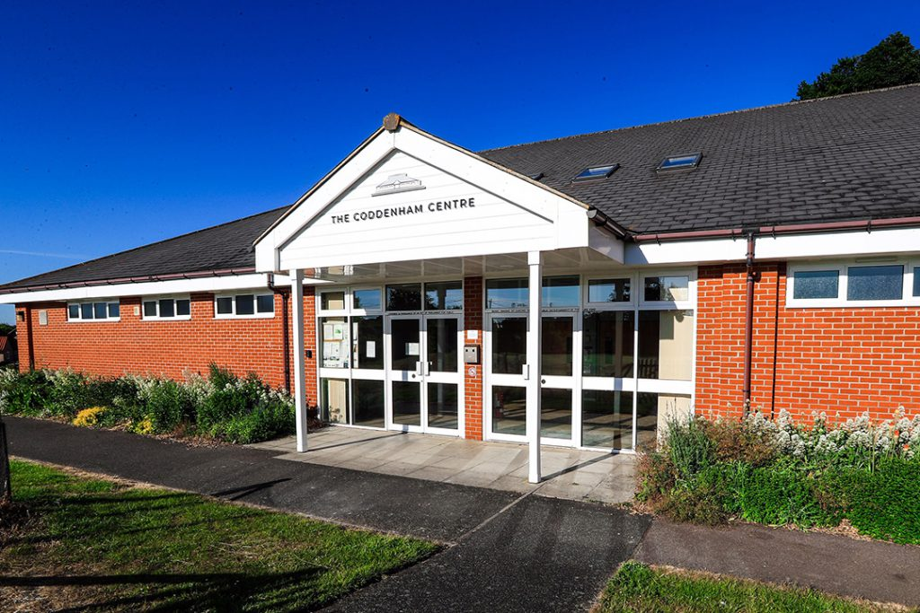 Entrance to the Coddenham Centre hall for hire