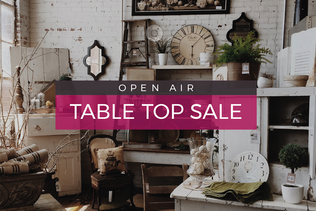 Table Top Sale Announcement Graphic