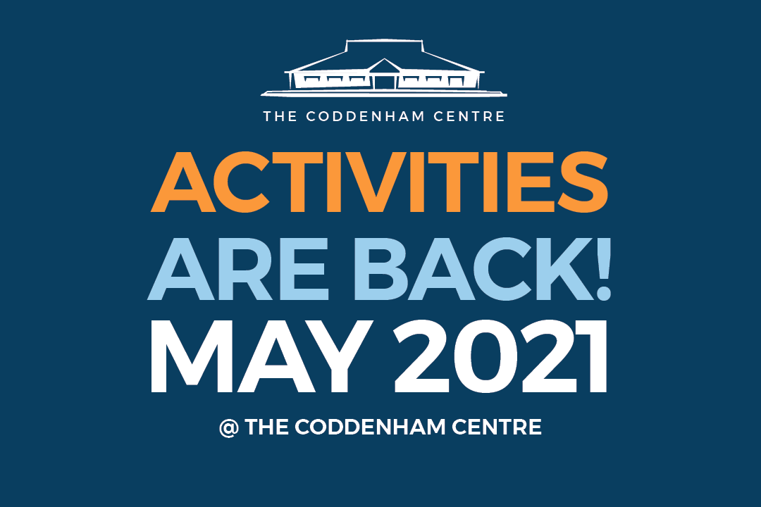 Activitids Poster for May at The Coddenham Centre Near Ipswich